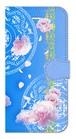【iPhone6/6s】 Peony Dream 芍薬の夢 スカイブルー 手帳型スマホケース