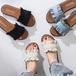 【即納♡】summer frill flat sandals 2226
