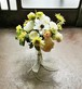 アネモネを使った白と黄緑のブライダルカラーブーケ&ブートニア