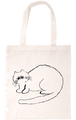 HAND-DRAWN TOTE BAG [CAT] ドローイングトートバッグ [ネコ]