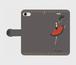 (iPhone) キトリ扇子手帳型スマホケース
