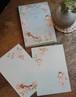 桜に雀 はがき箋