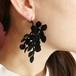 (片耳)植物ピアス(black)/イヤリング