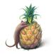 パイナップルとアカマングース mini print
