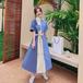 【dress】早い者勝ちファッション切り替え配色フェミニンデートワンピース M-0321