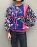 Diane freis bird print knit tops (ダイアン フレイス 鳥柄 ニットトップス )