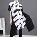 アシンメトリー ロングシャツ 個性的 半袖 韓国ファッション レディース 不規則デザイン ブラウス シャツ トップス 大きいサイズ 大人カジュアル 大人可愛い 621518832513