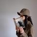 色づく山色の hat【Wooly hat】- Multicolor check of Harris Tweed -