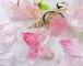 桜の蝶と妖精が遊ぶ春のバッグチャーム