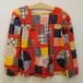 ジュニアサイズ【アメリカ製古着】1960年代ヴィンテージ◆ラッパ袖のパッチワーク柄のトップス