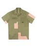Patchwork S/S shirt OLIVE -MAHARISHI-