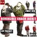 REVERSIBLE 2WAY COACHJACKET cross bp-07