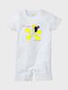 白 フラガール×プルメリア ロンパース インスタ映えするプルメリアデザイン PlUmeriaDesign