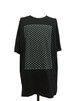 WIRE OVER SIZE SHORT SLEEVES -BLACK-