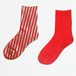 METAL SOX (STRIPE) RED X SILVER