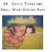 PDF曲集:小さな金属弦ハープのための24のケルト音楽