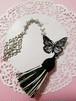 蝶の帯飾り 黒
