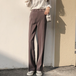 High waist wide straight pants ハイウエスト ワイド ストレート パンツ