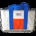 ハンドメイド1号帆布ビッグトートバッグ(ブルー×オレンジ/キャンバス)