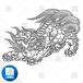 【png画像素材】唐獅子8 Lサイズ  横3000px × 縦2268px