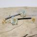Seaberry vintage beads × シーグラスのピアス