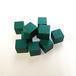 緑14mm木製キューブ(約100個)