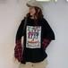 【トップス】ファッション長袖切り替えプリントTシャツ26451474