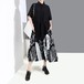 シャツワンピース 半袖 プリント 韓国ファッション レディース ゆったりウエスト Aライン ルーズ 大人カジュアル 大人可愛い ガーリー 623516145397