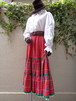 Check × Stripe tiered skirt チェック × ストライプ ティアード スカート