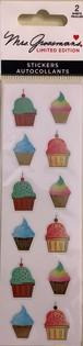 Watercolor Cupcakes, Foil