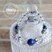 【LUXE Blue】 パワーストーン ブレスレット レディース 天然石 ラピスラズリ 水晶 クラック水晶 メタルパーツ[送料無料]