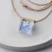 紫陽花(あじさい)のネックレス レザー(星花火, レジン, 牛ヌメ革, 送料無料)