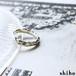 個性が光るシルバーリング【Melty ring -flat-(S)】