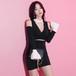 【特別価格】大きサイズ対応XL 美人スリムスタイル服 美脚 キャバ Vネック セクシースタイル美人服 ドレス