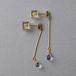 宝石質AAAクォーツとミモザのピアス(レジン, ステンレス, 送料無料)