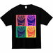 Tシャツ(ポップアート - 黒)