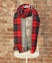 TheDelight REVERSIBLE CHECK & TIDORI STOLE RED&BLACK