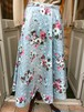 VINTAGE flower paint print quilting circular skirt