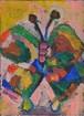 バタフライ 春の舞(アクリル絵画)