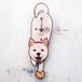 D-180 白柴犬(口開き) - ペットの振り子時計