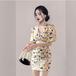 【dress】輝いて超人気 ! 高級感Vネックチュニックプリントデートワンピース