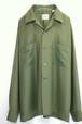 1960's BRENT ループカラーボックスシャツ モスグリーン 表記(M) ブレント