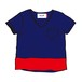 Cummerbund V-TEE Color NAVY+VERMILLION for unisex