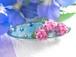 そぼ降る雨に咲く紫陽花のバレッタ