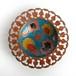 インド製 絵皿 /青