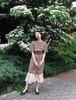 Vintage beige silk dress