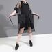 総メッシュ フード付き ワンピース 大きいポケット 韓国ファッション レディース シースルー パーカー ゆったりウエスト 大人カジュアル 大人可愛い ガーリー 619331167543