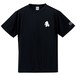 ワンポイントキャラクターTシャツ(ブラック×ホワイト)