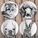 オリジナルオーダーメイド絵皿・プレート作成・犬猫、ペットの似顔絵/リアルタッチアート
