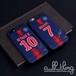「LIGUE1」パリサンジェルマン 2018-19シーズン ホームユニフォーム キリアンムバッペ ネイマール サイン入り iPhoneX iPhone8 ケース